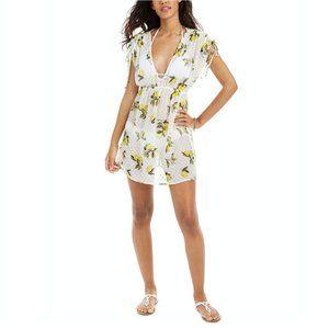 Miken Lemon Burst Textured Coverup Dress